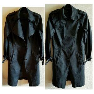 THEORY Nania Hummingbird Linen Trench Coat